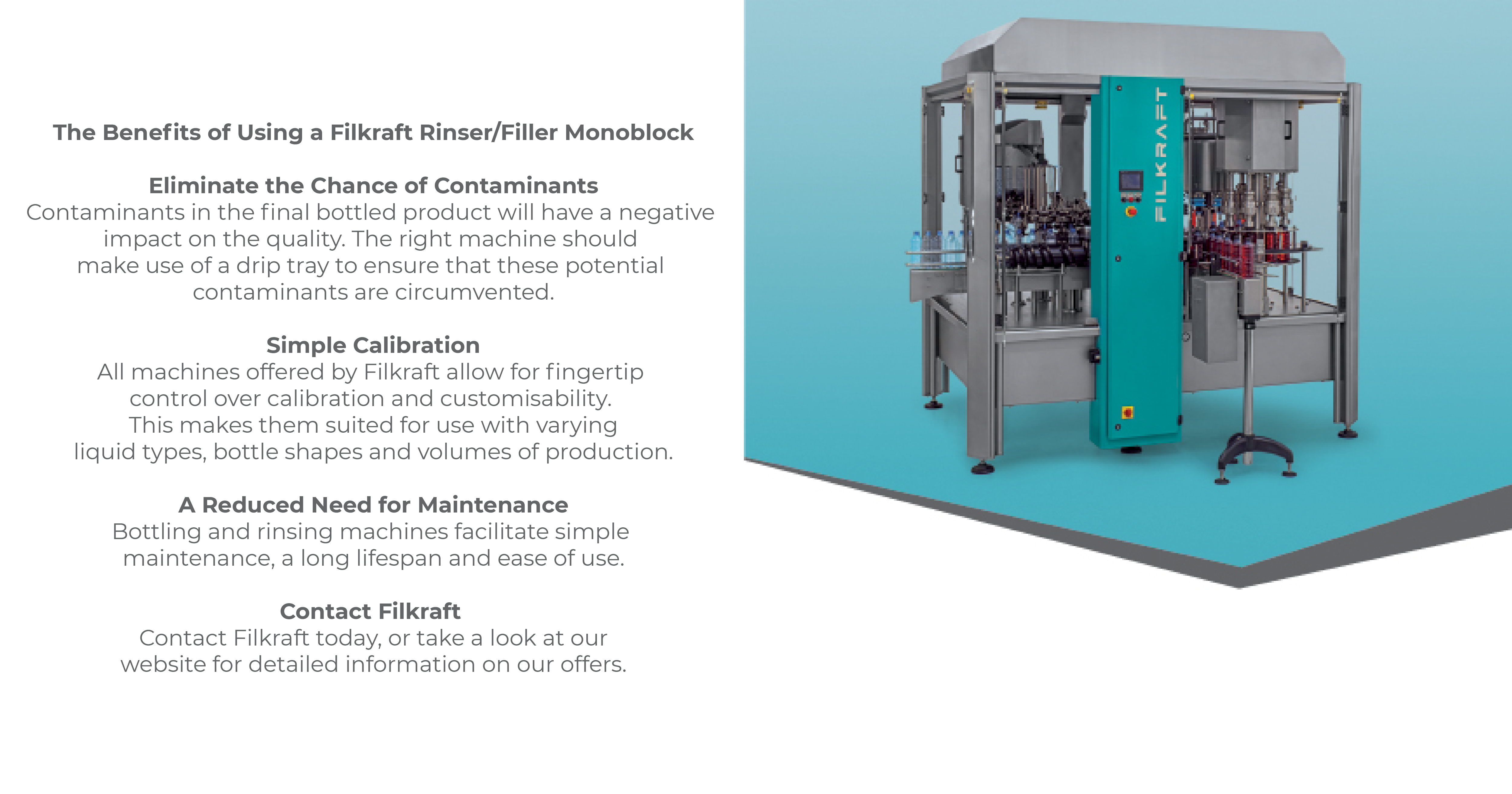 The Benefits of Using a Filkraft Rinser/Filler Monoblock